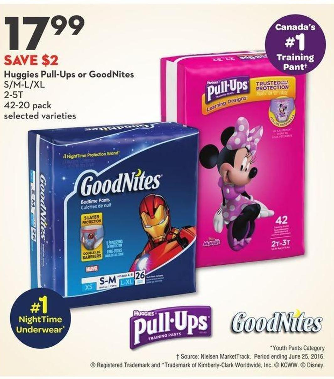 Huggies Pull-Ups or Goodnites