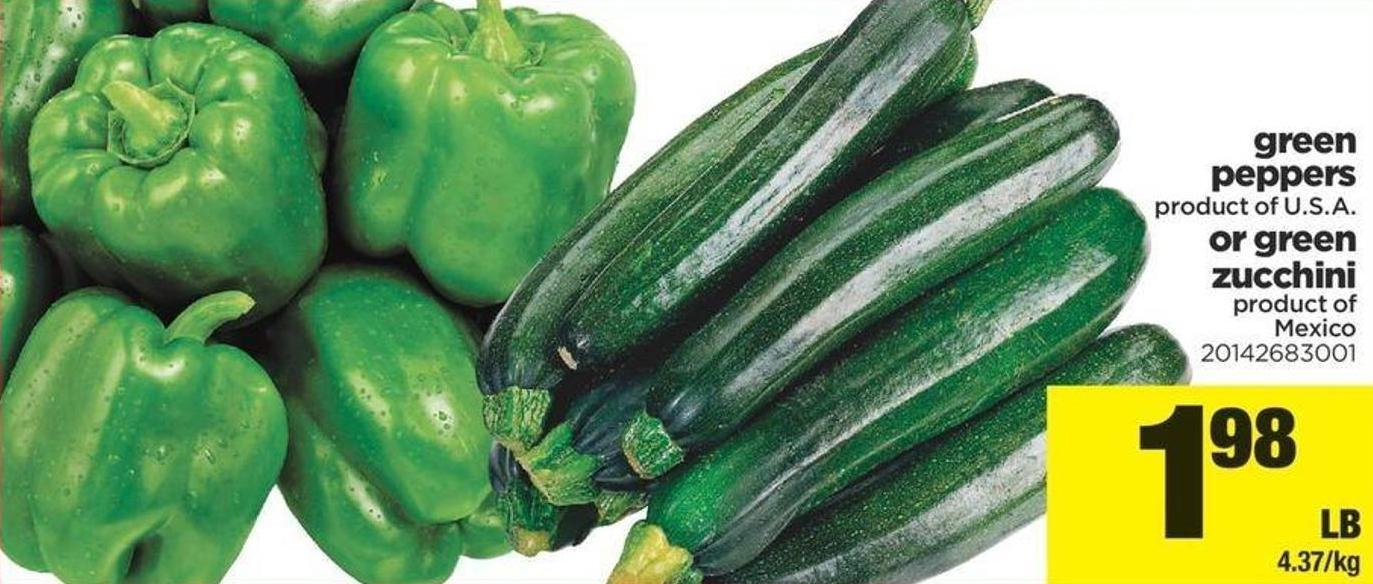 Green Peppers Or Green Zucchini