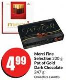 Merci Fine Selection 200 g Pot of Gold Dark Chocolate 247 g
