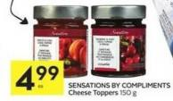Sensations By Compliments Cheese Toppers