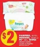 Pampers - 56-72's - Huggies - 56-64's or PC 100's - Wipes