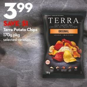 Terra Potato Chips 170g Pkg