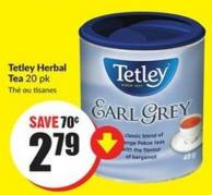 Tetley Herbal Tea 20 Pk
