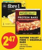 Nature Valley or Fibre 1 Granola Bars - 120-210 g