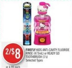 Firefly Kids Anti-cavity Fluoride Rinse (473ml) or Ready Go Toothbrush (1's)