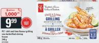 PC Chili And Lime Flavour Grilling Raw Butterflied Shrimp - 340 g