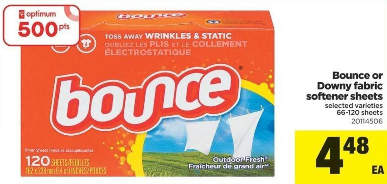Bounce Or Downy Fabric Softener Sheets - 66-120 Sheets