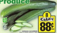 Seedless Cucumbers