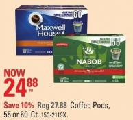 Coffee Pods - 55 or 60-ct