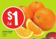 Seedless Oranges Product of Egypt 2.20/kg Oranges