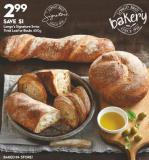 Longo's Signature  Swiss Twist Loaf  or Boule 450g