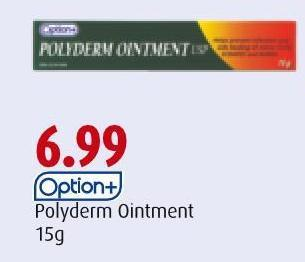 Option+ Polyderm Ointment 15g
