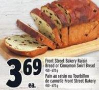 Front Street Bakery Raisin Bread Or Cinnamon Swirl Bread