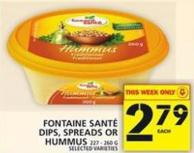 Fontaine Santé Dips - Spreads Or Hummus