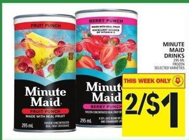 Minute Maid Drinks
