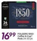 Folgers 1850 Coffee K-cup Pods