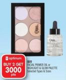 Quo Facial Primer Oil or Highlight & Glow Palette