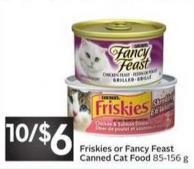 Purina Friskies or Fancy Feast Canned Cat Food