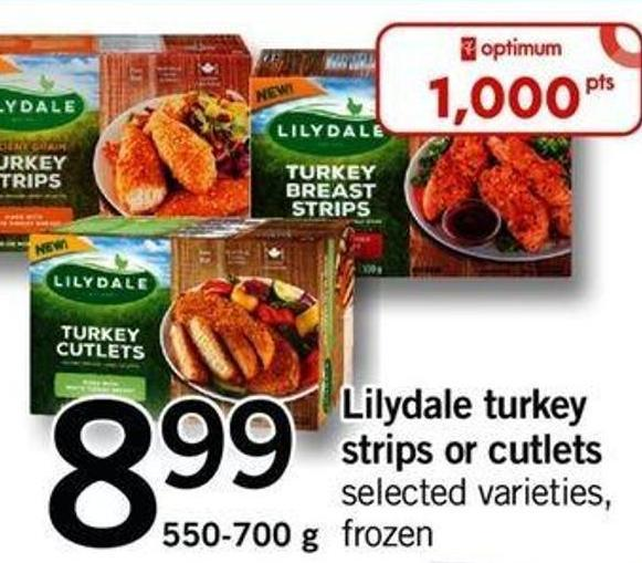 Lilydale Turkey Strips Or Cutlets - 550-700 G