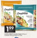 Compliments Garden Salad 340 g or Coleslaw 454 g Product of USA