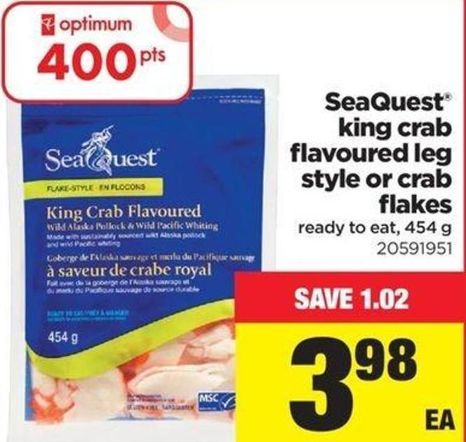 Seaquest King Crab Flavoured Leg Style Or Crab Flakes - 454 G