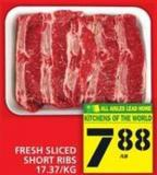 Fresh Sliced Short Ribs