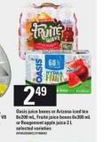 Oasis Juice Boxes Or Arizona Iced Tea 8x200 Ml - Fruité Juice Boxes 6x300 Ml Or Rougemont Apple Juice 2 L