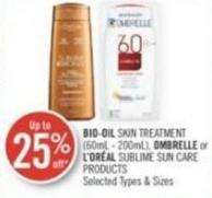 Bio-oil Skin Treatment (60ml - 200ml) - Ombrelle or L'oréal Sublime Sun Care Products