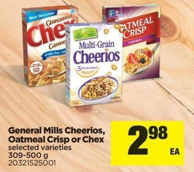 General Mills Cheerios - Oatmeal Crisp Or Chex - 309-500 g