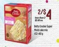 Betty Crocker Super Moist Cake Mix 432-461 g