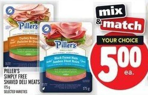Piller's Simply Free Shaved Deli Meats