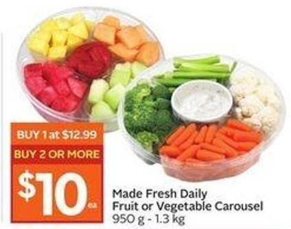 Made Fresh Daily Fruit or Vegetable Carousel