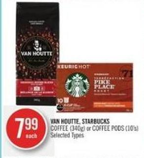 Van Houtte - Starbucks   Coffee (340g) or Coffee PODS (10's)