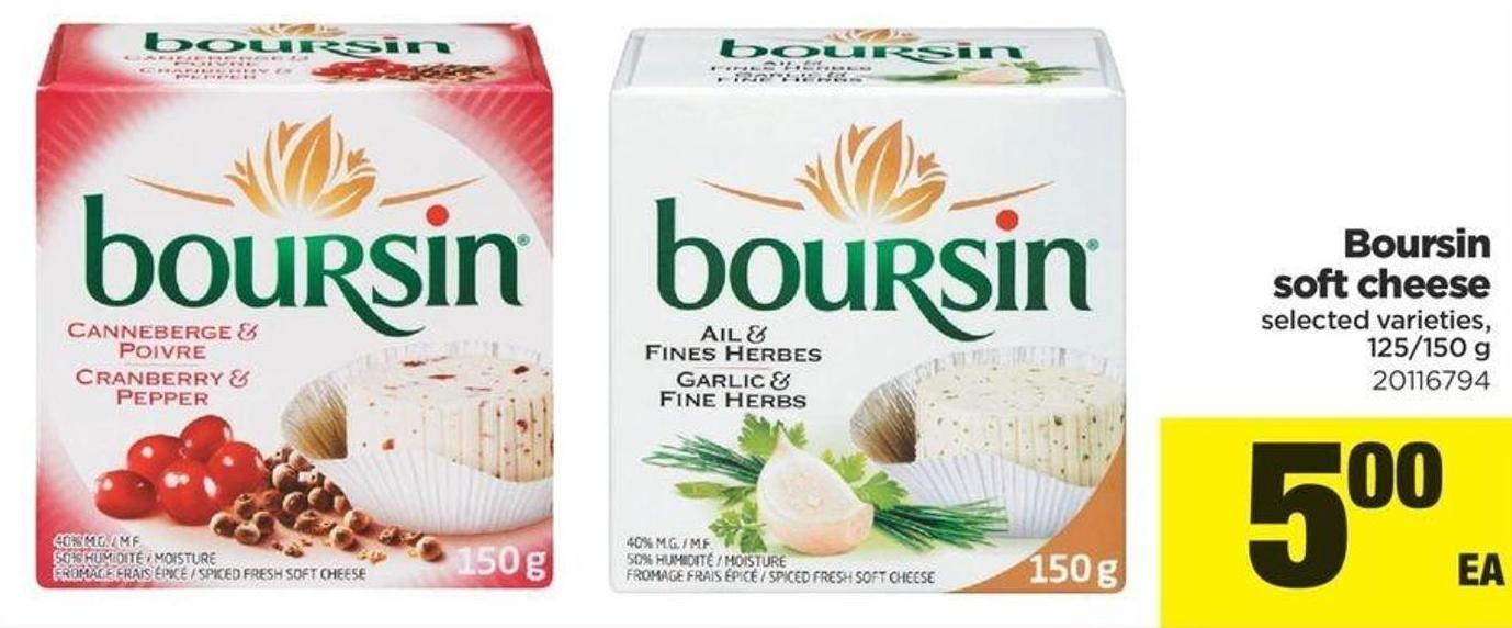 Boursin Soft Cheese - 125/150 g