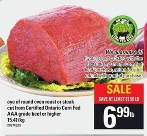 Eye Of Round Oven Roast Or Steak