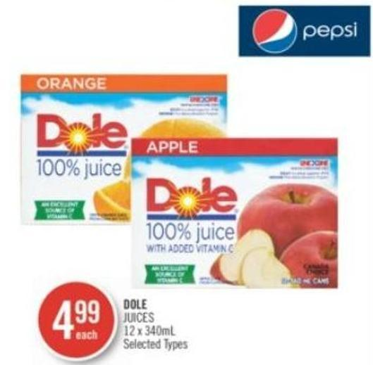 Dole Juices 12 X 340 mL