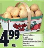 Ontario Potatoes 3 L Basket