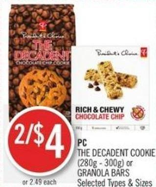 PC The Decadent Cookie (280g - 300g) or Granola Bars