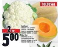 Cauliflower Product Of U.S.A. - No. 1 Grade Colossal Cantaloupes Product Of Guatemala - No. 1 Grade Or Product Of Honduras - No. 1 Grade