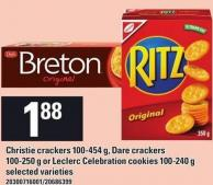 Christie Crackers 100-454 G - Dare Crackers 100-250 G Or Leclerc Celebration Cookies 100-240 G