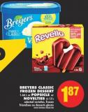 Breyers Classic Frozen Dessert 1.66 L or Popsicle or Novelties 6-12's