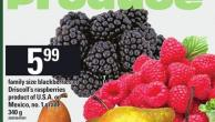 Family Size Blackberries Or Driscoll's Raspberries - 340 g