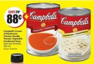 Campbell's Cream of Mushroom - Chicken Noodle - Tomato - Vegetable Condensed Soup Selected Varieties 284 mL