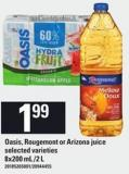 Oasis - Rougemont Or Arizona Juice - 8x200 mL /2 L