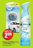 Febreze Air Effects 250 g or Vent Clips 2 mL