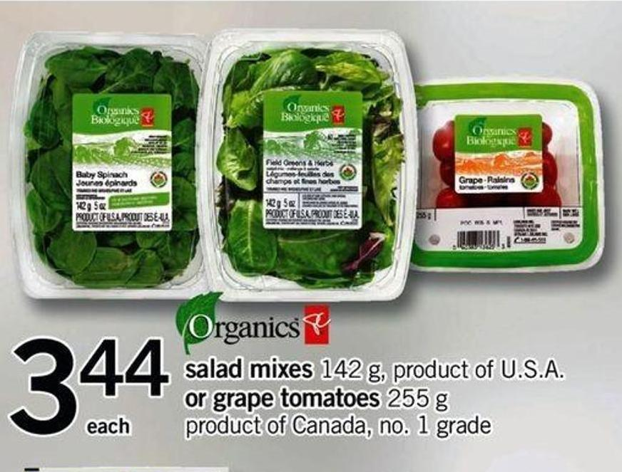 Salad Mixes 142 G - Product Of U.S.A. Or Grape Tomatoes - 255 G