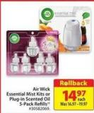 Air Wick Essential Mist Kits or Plug-in Scented Oil 5-pack Refills