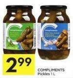Compliments Pickles 1 L