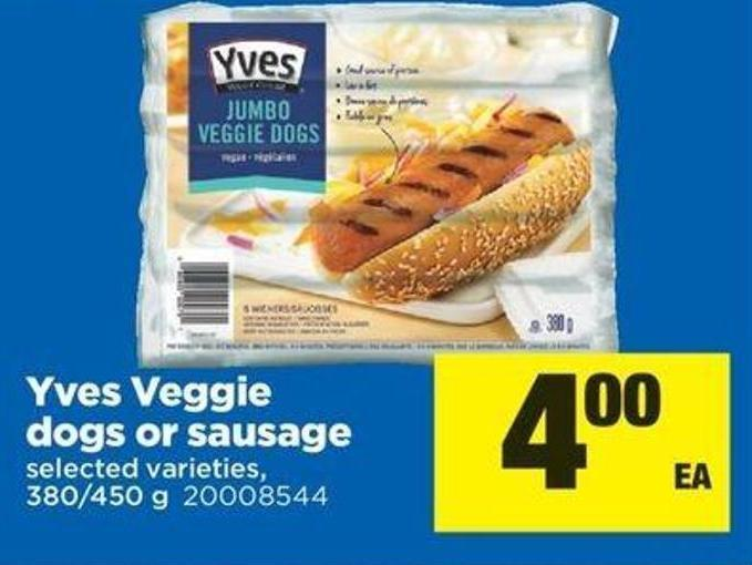 Yves Veggie Dogs Or Sausage - 380/450 G