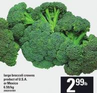 Large Broccoli Crowns